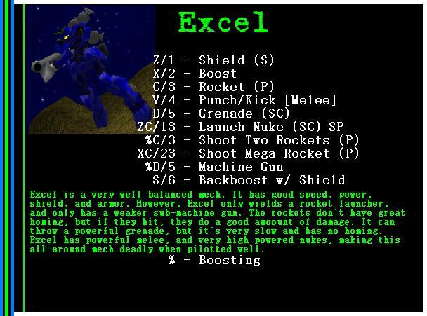 Mech: Excel