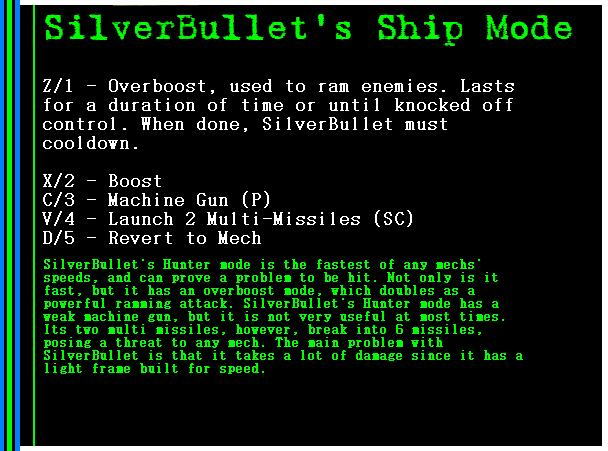 Mech: SilverBullet Hunter Mode
