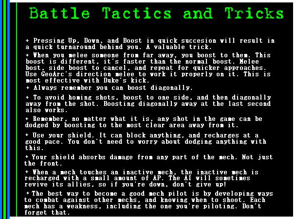 Battle Tactics and Tricks